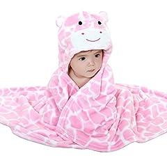Idea Regalo - Mture Accappatoio neonato, Asciugamano per Bambini Animal Asciugamano da Bagno Doccia dei Neonati e Piccini con Cappuccio poncho caldo e morbido, Perfetto per la Doccia dei Bambini - rosa