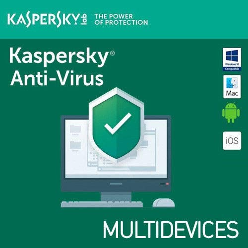 Kaspersky Anti-Virus 2019 1 ANNO 3 PC 2018 PC MAC ANDROID MD IT EU 3 dispositivi 1 Licenza ESD (Electronic Software Distribution) Fatturabile