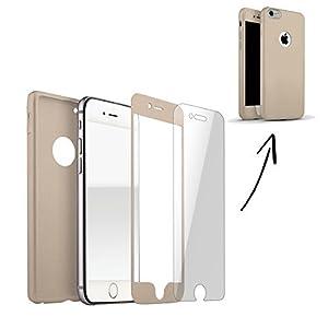 360 Grados Protección completa TPU Silicona con Vidrio a prueba de balas - oro, Iphone 6 Plus / 6S plus - La caja del teléfono de Finoo® se distingue por su estabilidad y durabilidad. También pensamos en la pantalla y un cristal protector incluido en...