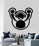 42 * 45cm de etiqueta de la pared calcomanía de vinilo DJ Headphone Plate Hands Up Club Party Decor casa decoracion salon dormitorio calcomanias removibles