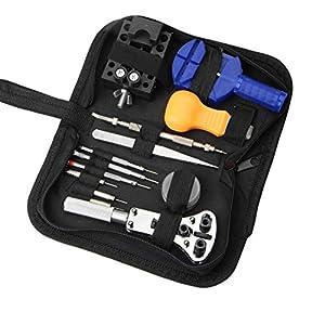 Herramientas eléctricas Reparación de herramientas del reloj Abra la cubierta posterior y tome la mesa con el kit de reparación 13 piezas de hardware de reparación del reloj