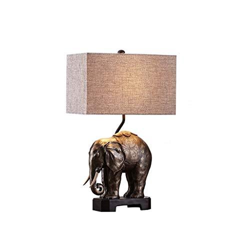 Nuevo iluminación Lámpara de mesa, lámpara de noche decorativa, lámpara de elefante creativa, cuerpo, mesa, luz de mesa, para decorar la sala de estar Dormitorio Comedor [Clase de eficiencia energétic
