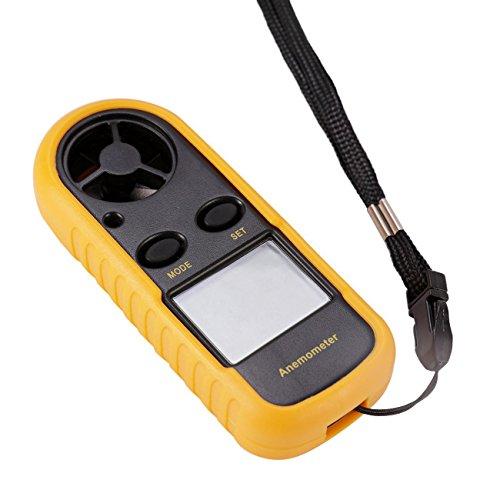 Geschwindigkeit Lesen, Digitale Thermometer (Digital Anemometer LCD,Dyna-Living Windmesser digital LCD Wind Speed Meter Gauge Air Flow Geschwindigkeit Messung Thermometer mit Hintergrundbeleuchtung für Windsurfen Kite Flying Segeln Surfen Angeln)
