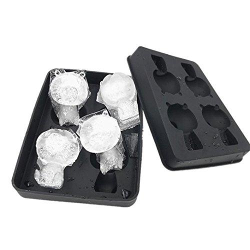 Panda Form Eisgitter Einfrieren Eiswürfelschale Pudding Gelee Maker Schimmel Eiswürfel Hirolan Silikonformen Silikon Eiswürfelform Ice Tray Ice Cube Eiswürfel Silikonformen (schwarz)