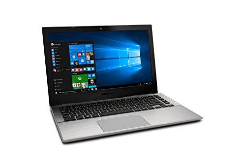Medion Akoya S3409 MD 60423 3378 cm 133 Zoll mattes filled HD demonstrate Notebook Intel primary i5 7200U 8GB RAM 256GB SSD Intel HD Grafik Win 10 family home silber Notebooks
