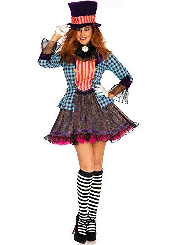 Leg Avenue LO85648 Ravishing Mad Hatter Kostüm, Mehrfarbig, Medium (EUR - Leg Avenue Mad Hatter Kostüm