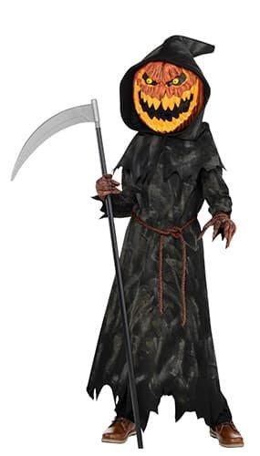 Jack-O-Lantern jungen Halloween Kürbis Reaper Kids Kinder Kostüm (8-10 ()