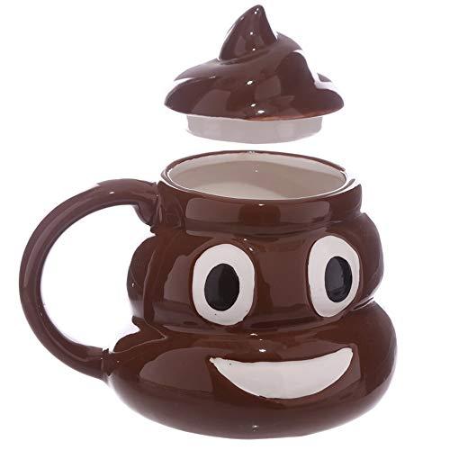 Mich kacken Becher Emoji Tassen 2 Stück, lustige Gag Geschenk Keramik,Poop ()