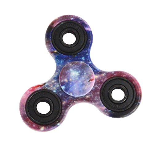 Preisvergleich Produktbild Fidgetkool Fidget Hand Tri Spinner Finger Kreisel Spielzeug Druckverminderung Stress Autismus und ADHS Linderung Spielzeug