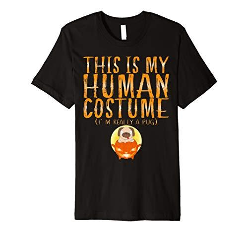 This Is My Echthaar Kostüm Ich bin wirklich A Pug Halloween T-Shirt