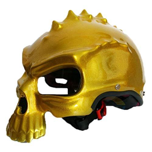 Dual Use Schädel Maske Motorradhelm Retro Half