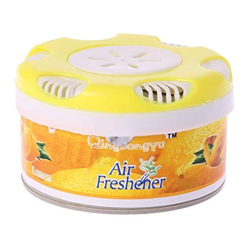 SimpleLife Prodotti per la Pulizia della casa, Profumo Solido Deodorante Profumo Profumo Casa Bagno Deodorante per Auto al Coperto Giallo Limo