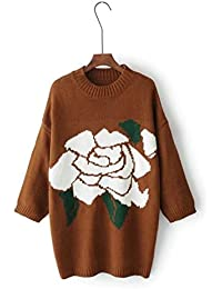 CHLXI Sweat à Manches Longues pour Femmes avec Manches Longues Et Manches  Longues Robe Ronde Et Motifs Roses Pattern Long… f153292b364