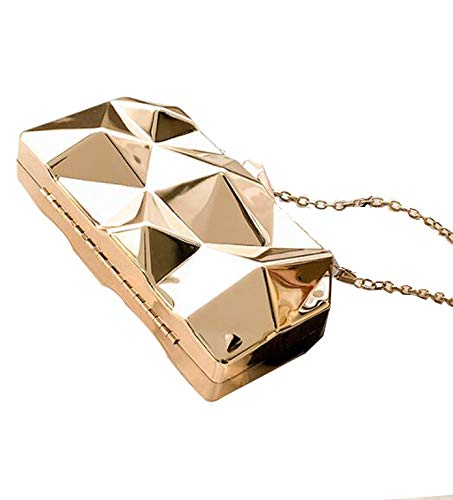 Womens Clutch Bag Chain Handtasche, Fit Wit Womens Alloy Metal Abstract Stone Clutch Purse Evening Cocktail Wedding Party Handtasche - Abstract Iris