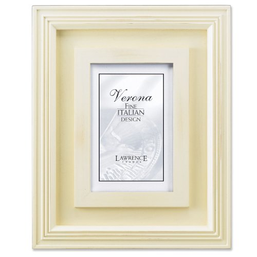 Lawrence Frames Dimensional Distressed Cream Wood 4x6 - Distressed Cream
