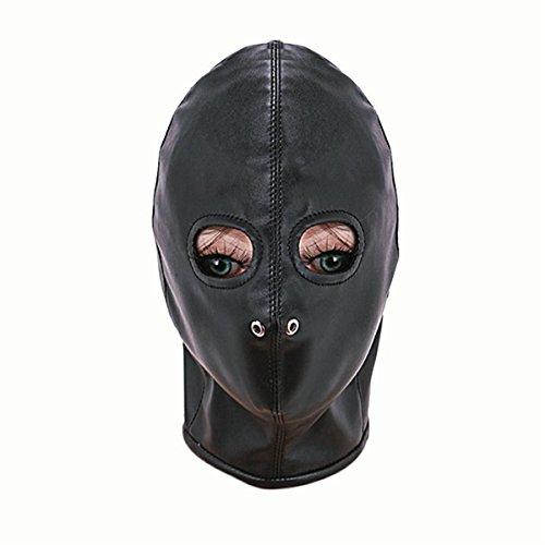 LIUZHI Spaß Erwachsene liefert Tau Kopfbedeckung / Maske / Leder Maske / Bestrafung gebunden , black (Silber Flügel Kostüm)