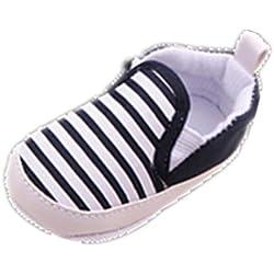 Tefamore Zapatos Bebé De Franja Embroma Los Recién Nacidos Niñas Niño Pequeño (Tamaño: 13, Negro)