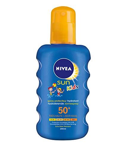 Nivea Sun Kids Pflegendes Sonnenspray LSF 50+, 1er Pack (1 x 200 ml)