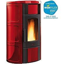 termoestufa estufa de pellets potencia 19kW Burdeos Calefacción casa iside 035399