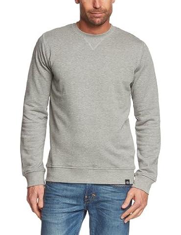 Dickies Men's Washington Plain Long Sleeve Sweatshirt, Grey (Grey Melange), Medium