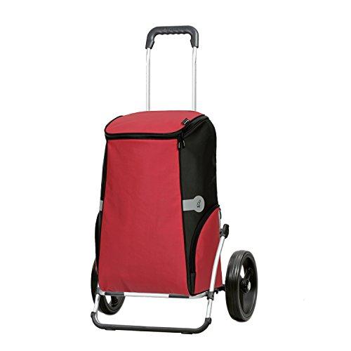 Sondermodell Andersen XXL Einkaufstrolley Royal & Einkaufstasche Rune rot mit Kühlfach | Einkaufswagen mit großen Rädern | Shopper Gestell Aluminium klappbar