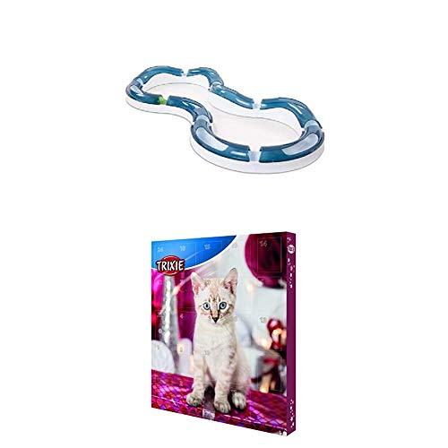 Catit Design Senses Super Roller Circuit Tempo-Spielschiene + Trixie Adventskalender für Hunde und Katzen