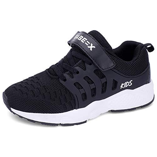 Formatori Ragazzi Ttraspirante Stradali Running Shoes Bambini Unisex Ragazze Leggero Sneakers 36 EU Nero