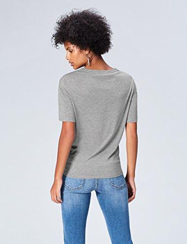 FIND Damen T-Shirt Grau (Grey)