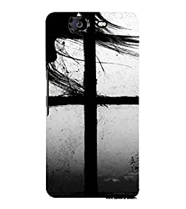 PrintVisa Couple Window Design 3D Hard Polycarbonate Designer Back Case Cover for Micromax Knight A350