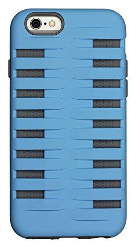 Caseit Rugged Dual-Layer Clip-On Adventure Case Cover Schutzhülle für iPhone 6 Plus/6S Plus - Schwarz Blau
