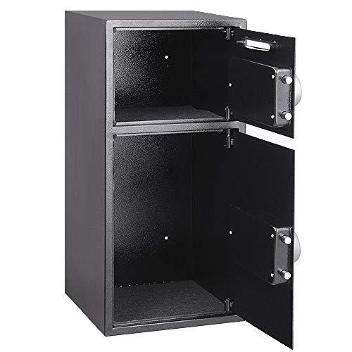 e, 35 * 35 * 75 cm Elektronischer Safe Geldkassette Home Safe Lock Box Digitaler Safe Stahl Sicherheitsbox Für Büro oder Heimgebrauch Wand- oder Bodenmontage, Black ()