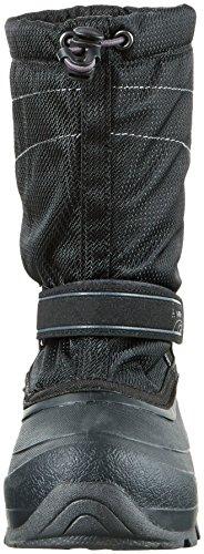 Kamik Snowcoast, Bottes mi-hauteur avec doublure chaude mixte enfant Noir - Schwarz (BLK-Black)