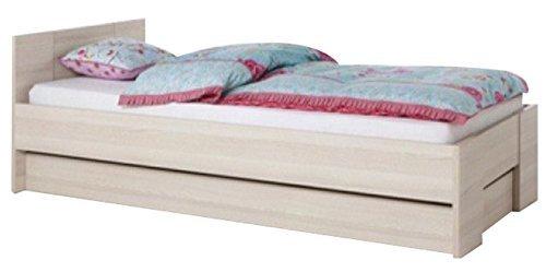 Letto singolo componibile modulare in kit legno frassino lt2223 l98h70p207