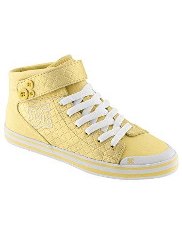 Sneakers femmes DC Venise Mid TX Chaussures Femme jaune soleil