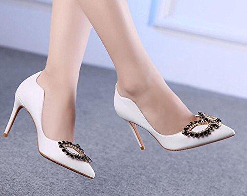 L@YC® Frauen High Heels Nightclub Ultra High Heels Tisch Mit Einer GroßEn GrößE Fine Mit Sandalen Tanz White