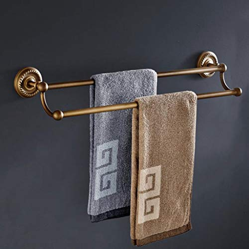 LXYPLM-TR Handtuchstange Handtuchhalter Bad Handtuchhalter Bar Doppelstange Retro Dusche Organisation Bad Handtuchhalter Messing Rack (Bad-dusche-organisation)