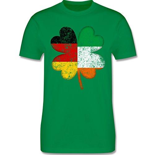 Shirtracer St. Patricks Day - Deutschland Irland Kleeblatt - L - Grün - L190 - Herren T-Shirt Rundhals