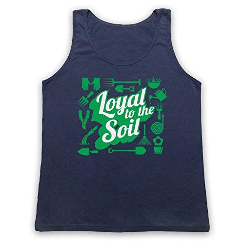 Loyal To The Soil Gardening Slogan Tank-Top Weste Ultramarinblau