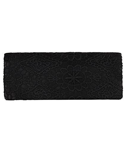 Bolso Croché Fiesta [Negro,talla única]