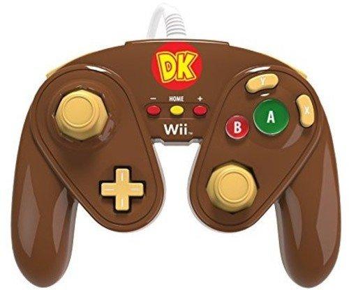 PDP - Mando Fight Pad Con Cable, Diseño Donkey Kong (Nintendo Wii U)