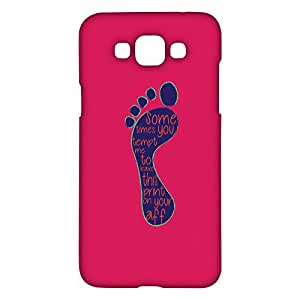 RANGSTER Foot Print-Fun Matte Finish Mobile Case For Samsung Grand Max (G720N)-Pink