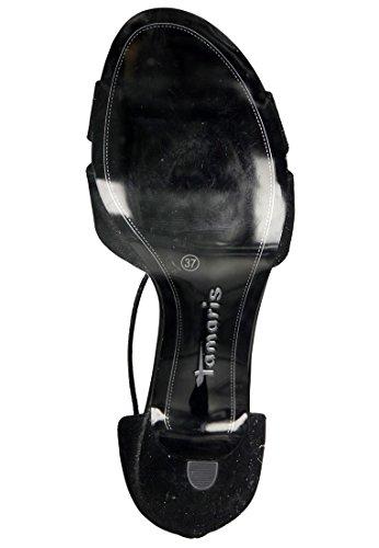 Chic, Tamaris, confortables Mary Jane Pompes peep-orteils avec impression rose 1-28308-20 peigne 397 poivre black glam
