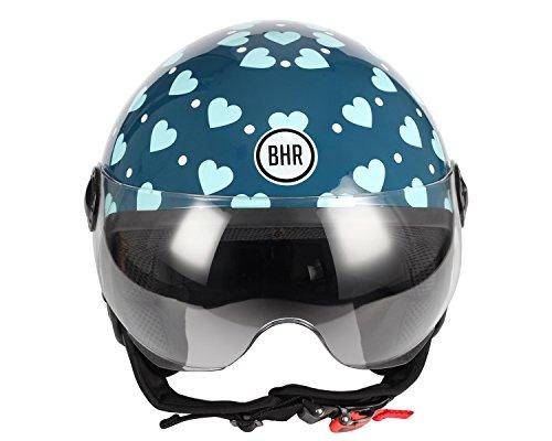 Zoom IMG-1 casco moto bhr demi jet