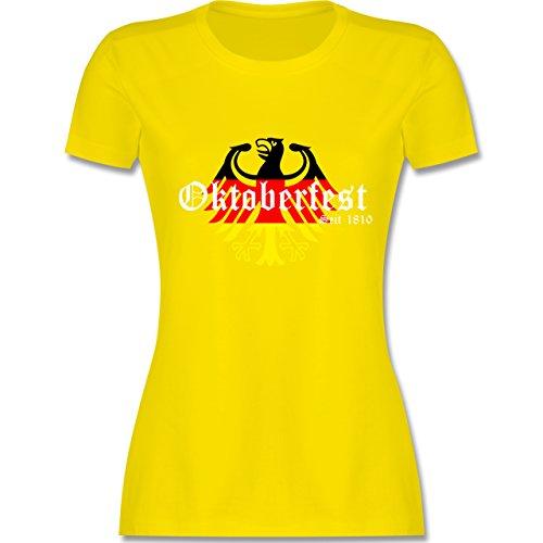 Oktoberfest Damen - Oktoberfest Seit 1810 Deutschland Germany Adler - tailliertes Premium T-Shirt mit Rundhalsausschnitt für Damen Lemon Gelb