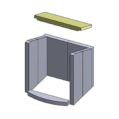 PUR Schamotte Heizgasumlenkplatte 385x175x30mm (Vermiculite)