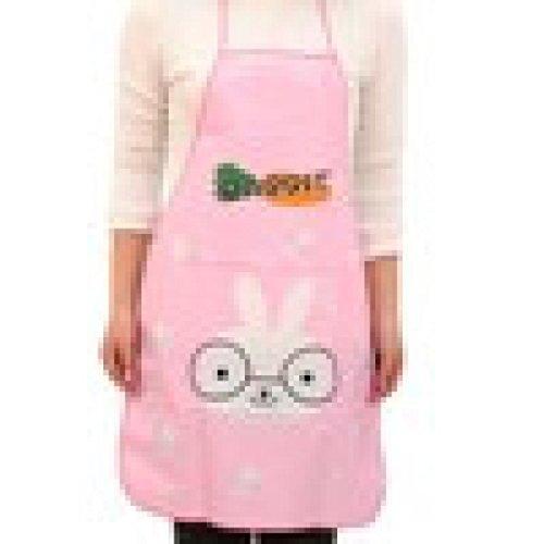 Hirolan Damen Wasserdicht Schürze Karikatur Küche Kochen Lätzchen Frauen Kochschürze Latzschürze Grillschürze Küchenschürze Kochen Schürze (Rosa) (Rosa Löffel Kostüm)