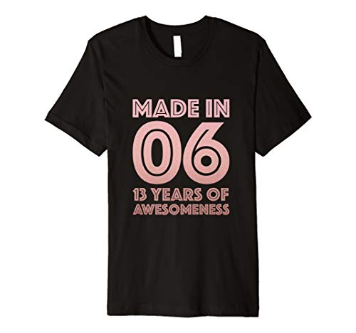 13th Birthday Shirt Teen Girls Gift Age 13 Year Old Daughter
