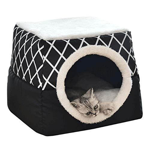 S-tubit Einzigartiges 2-in-1 Katze Bed & Cat House, Cat Cube Mit Organic Cotton & Plüsch Sherpa Futter, Katzenbett, Katze Nest sale2019 -
