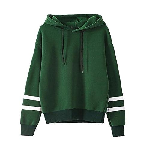 Damen Hoodie Xinan Christmas Langarm Sweatshirt Pullover Bluse (S, Grün) (M Und S Christmas Jumper)