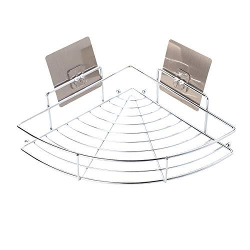 Yardwe Edelstahl badablage ohne Bohren Duschkorb Wand Dreieck Bad Regal für Dusche Edelstahl Badezimmerablage für Bad Badezimmer Regal 9 x 21 x 5 cm